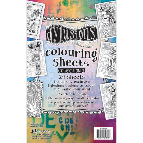 Dyan Reaveleys Dylusions Colouring Sheets #2 5x8 inch