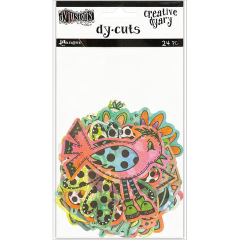 Dyan Reaveleys Dylusions Creative Dyary Die Cuts - Colored Birds & Flowers