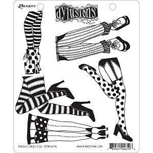 Ranger - Dyan Reaveley: Dylusions Cling Rubber Stamp Set - Daddy Long Legs