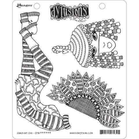 Dyan Reaveleys Dylusions Cling Stamp Collections 8.5 inch X7 inch - Sunshine Girl