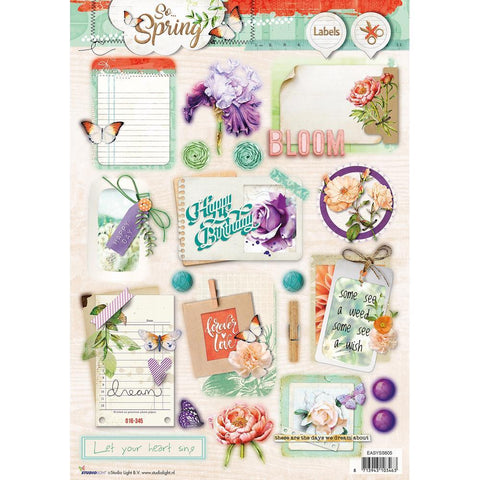 Studio Light So Spring Easy 3D Punched Sheet A4 - Bloom