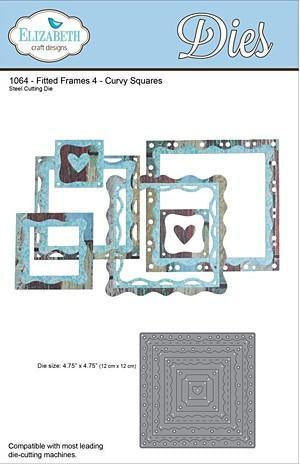 Elizabeth Craft Metal Die Fitted Frames 4 Curvy Squares