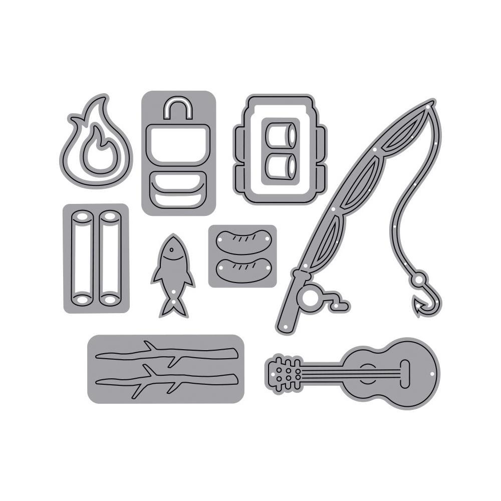 Elizabeth Craft - Metal Die Camping Accessories