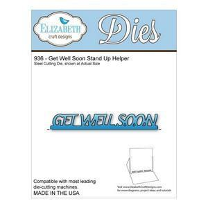 Elizabeth Craft Metal Die - Get Well Soon Stand Up Helper (Co-1C)
