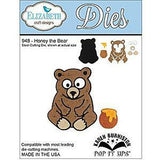 Elizabeth Craft Metal Dies By Karen Burniston Honey The Bear