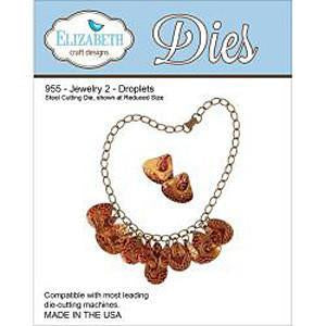 Elizabeth Craft Metal Die Jewelry 2 Droplets