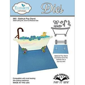 Elizabeth Craft Pop It Up Metal Dies By Karen Burniston Bathtub Pop Stand