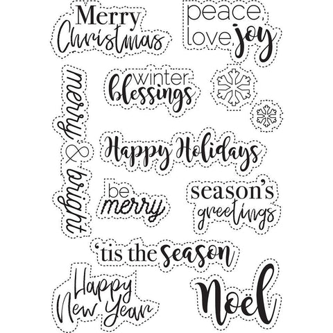 Elizabeth Craft Stamps  - Classic Christmas Sentiments