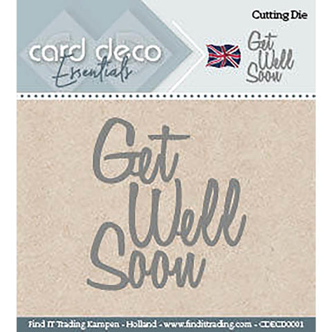 Find It Trading - Card Deco Dies - Get Well Soon