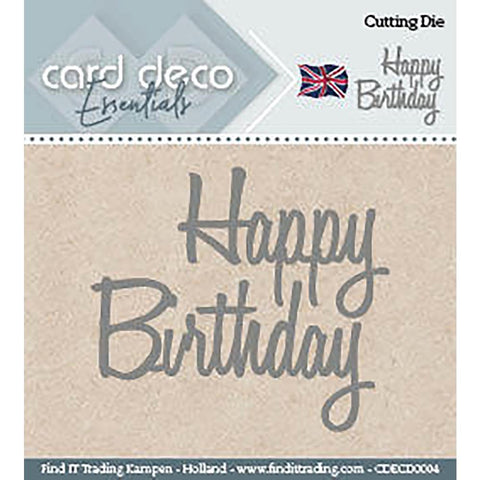 Find It Trading - Card Deco Dies - Happy Birthday