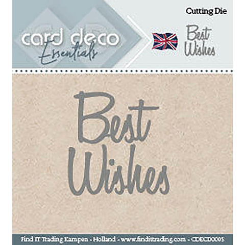 Find It Trading - Card Deco Dies - Best Wishes