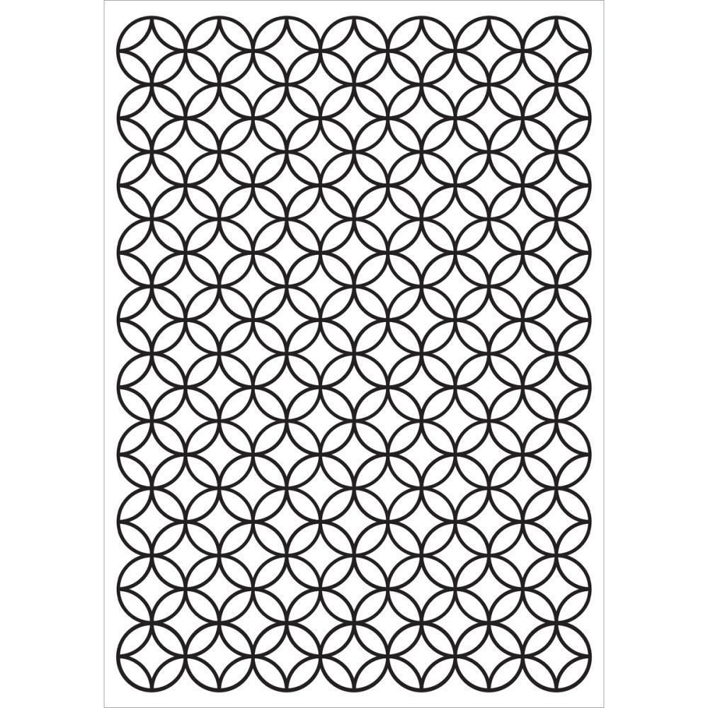 Kaisercraft Embossing Folder 4X6 Stained Glass