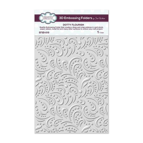 Creative Expressions 3D Embossing Folder 5.75in x 7.5in - Dotty Flourish