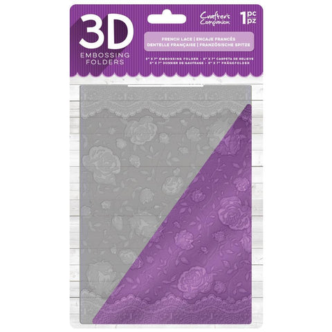 Crafters Companion - 3D Embossing Folder 5x7 inch  - French Lace