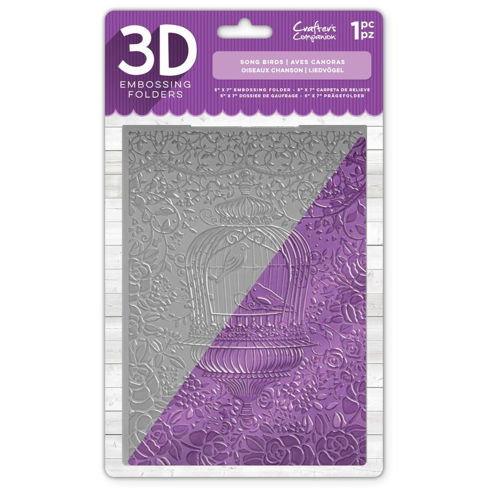 Crafters Companion - 3D Embossing Folder 5x7 inch - Song Birds
