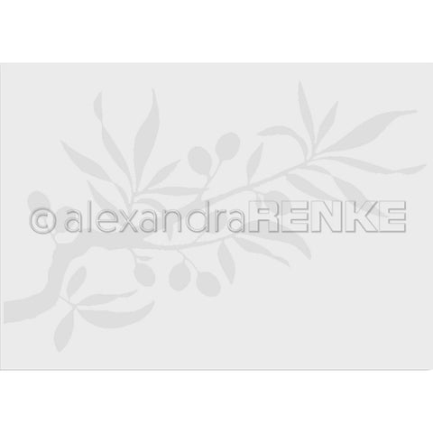 Alexandra Renke Embossing Folder Cooking; Olive Branch