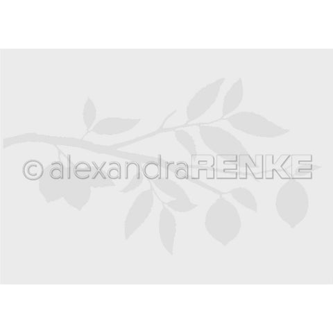 Alexandra Renke Embossing Folder Cooking; Lemon Branch