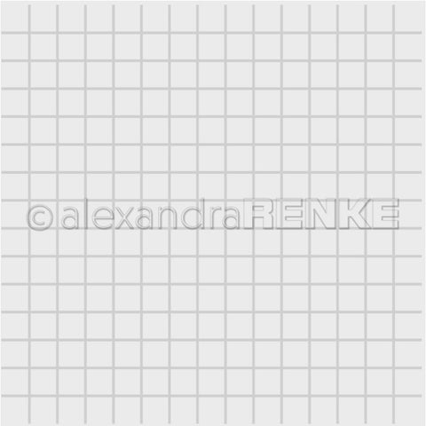 Alexandra Renke Embossing Folder - Square Grid
