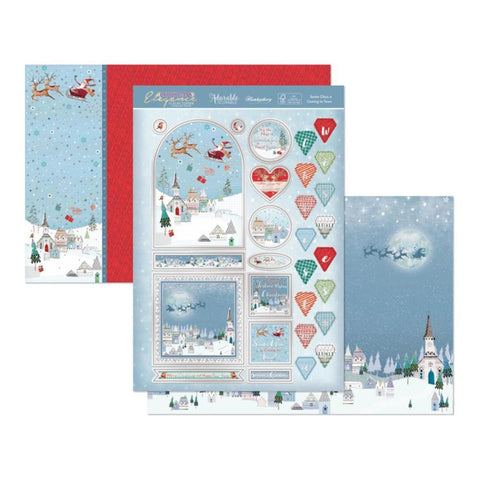 Hunkydory Christmas Elegance Luxury A4 Topper Set - Santa Claus Is Coming To Town