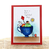 Pinkfresh Studio Clear Stamp Set 6inchX8inch Tealightful Day