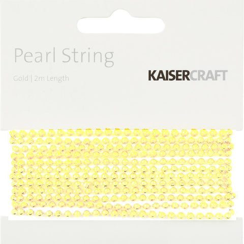 Kaisercraft - Light Gold Pearl String 2Mtr