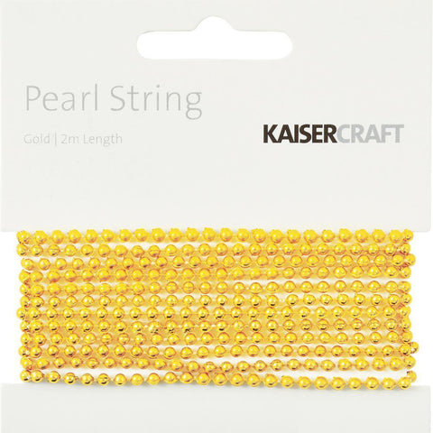 Kaisercraft - Gold Pearl String 2Mtr