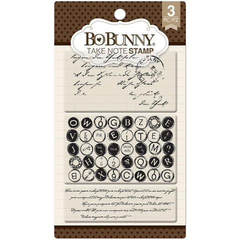 Bo Bunny Essentials Stamps 4x6 - Take Note