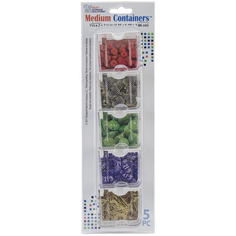 Elizabeth Wards Medium Containers 1.75x2x1.125 inch 5 pack