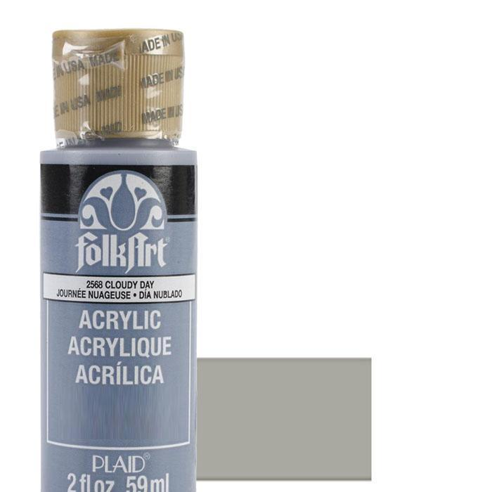 FolkArt Acrylic Paint 2oz - Steel Gray