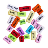 Dress My Crafts - Coloured Sentiment Tiles 25 pack
