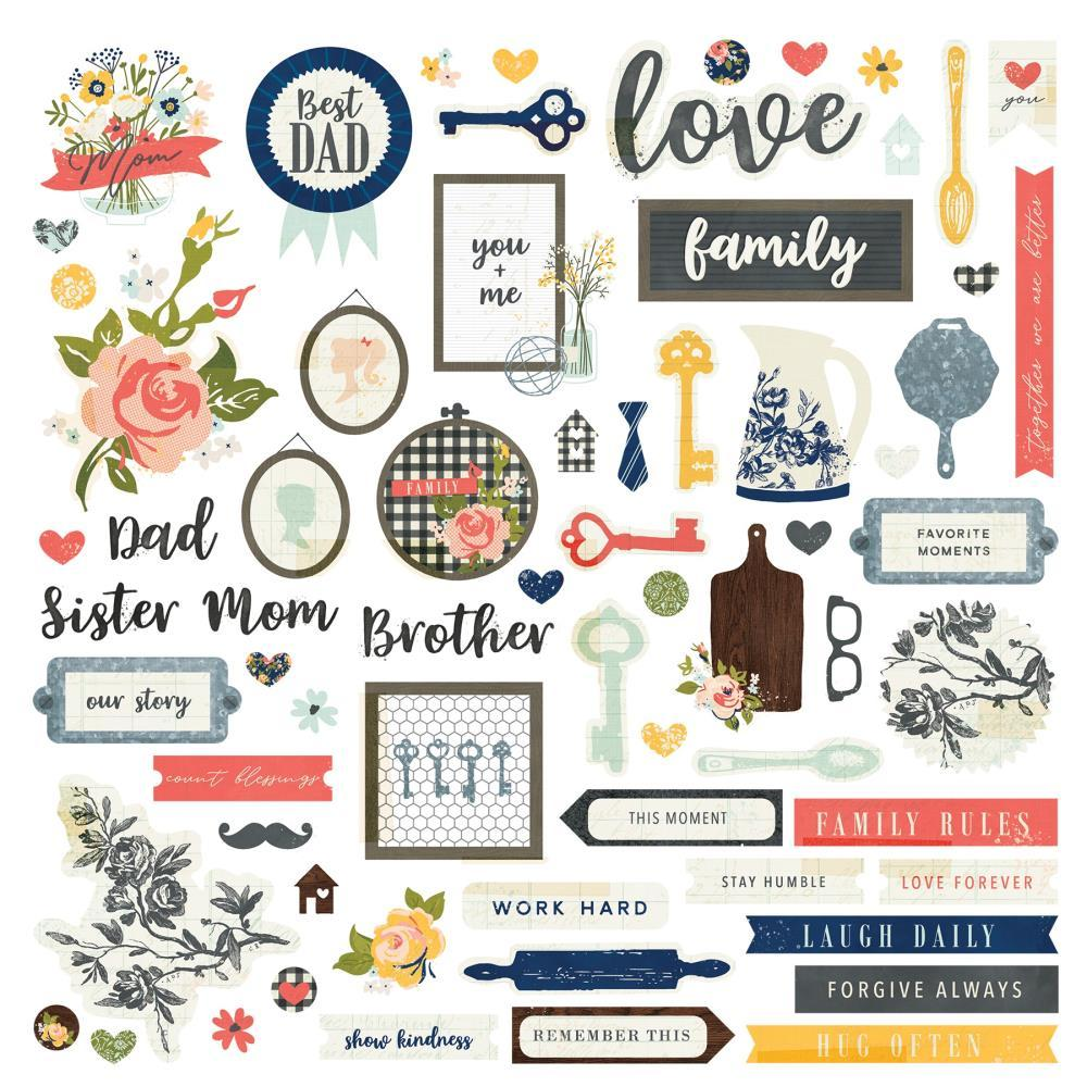 Photoplay - We Are Family Stickers 12 inch X 12 inch - Elements
