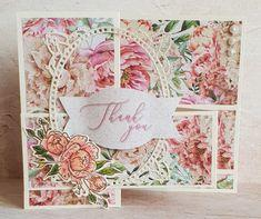 Crafter's Companion - Natures Garden Peony Stamp and Die - Floral Spray