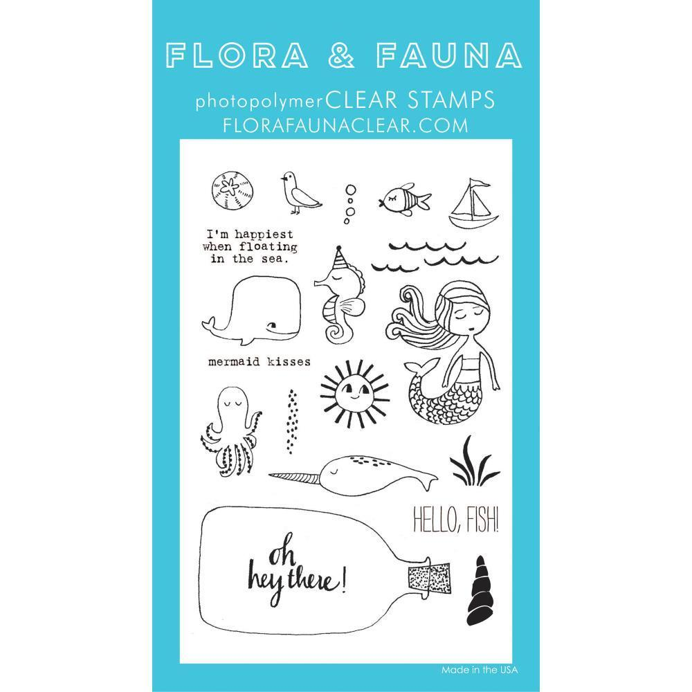 Flora & Fauna Clear Stamps 4x6 inch - Mermaid Kisses