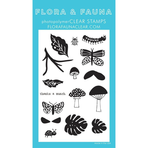 Flora & Fauna Clear Stamps 4x6 inch - Thanks A Munch