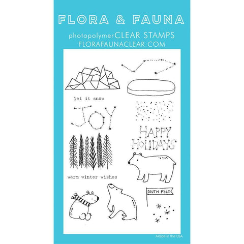 Flora & Fauna Clear Stamps 4x6 inch - Artic Starry Night