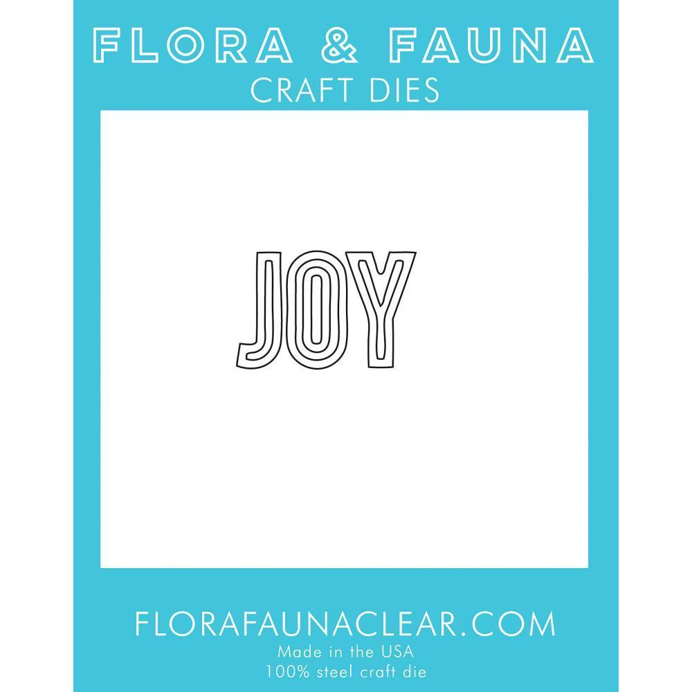 Flora & Fauna Dies - Joy Outline