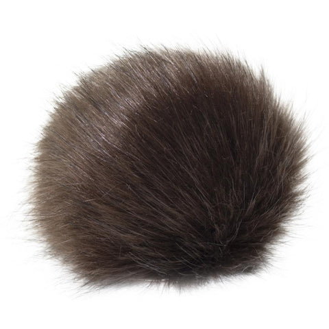 Pepperell - Faux Fur Pom With Loop - Brown