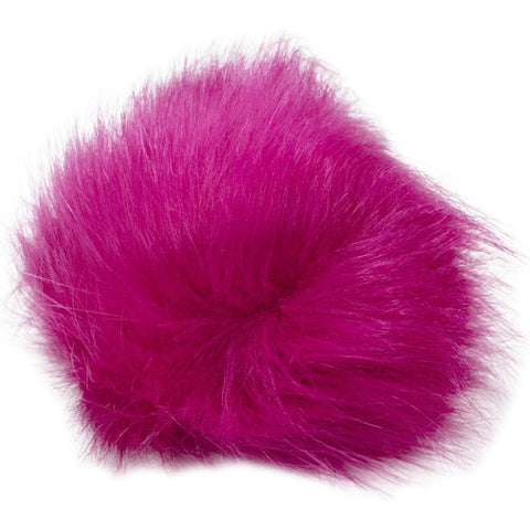 Pepperell - Faux Fur Pom With Loop - Azalea