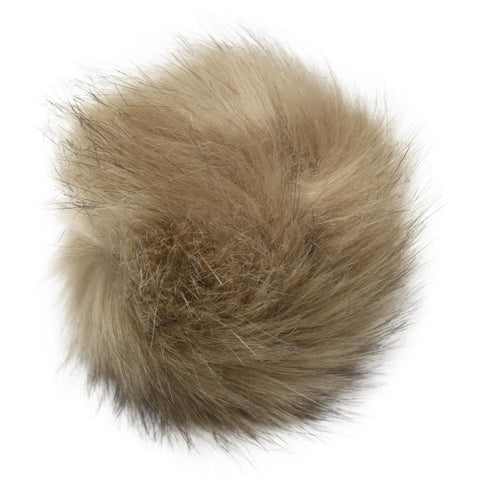 Pepperell - Faux Fur Pom With Loop - Lion Mane