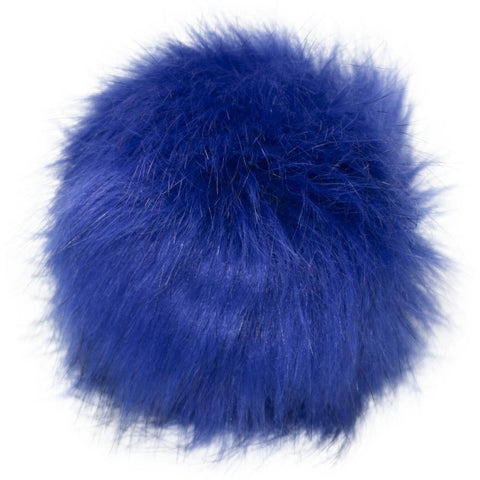 Pepperell - Faux Fur Pom With Loop - Royal