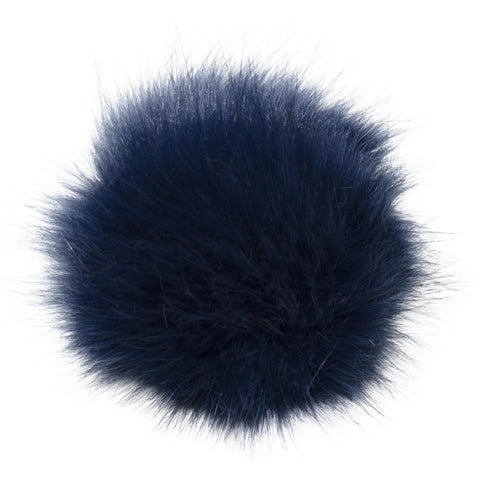 Pepperell - Faux Fur Pom With Loop - Navy