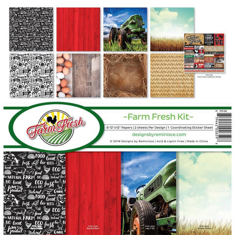 Reminisce Collection Kit 12x12 inch - Farm Fresh