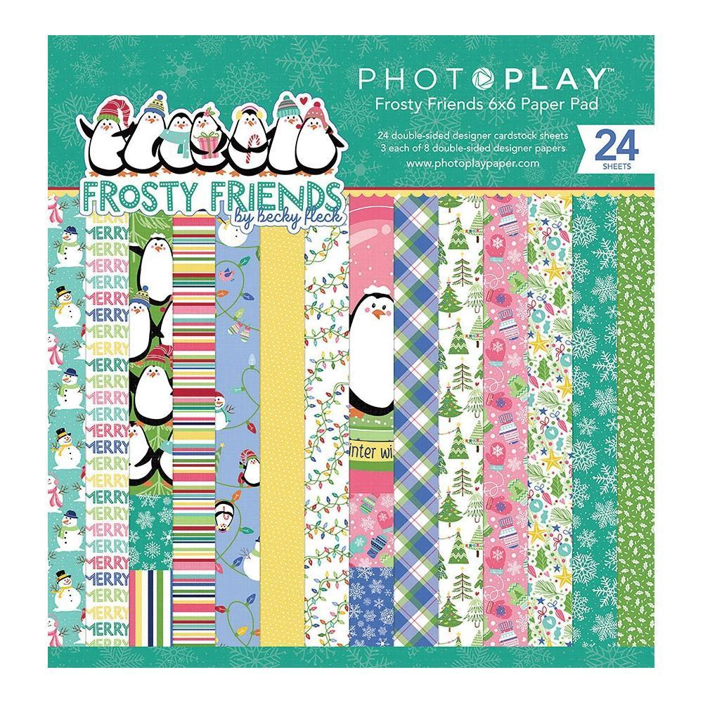 PhotoPlay D/S Paper Pad 6x6 inch 24/Pkg - Frosty Friends
