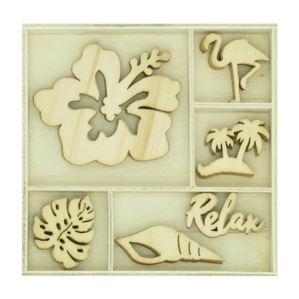 Kaisercraft - Themed Mini Wooden Flourishes 30 per pack - Relax