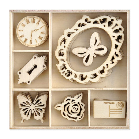 Kaisercraft - Wood Mini Themed Embellishments - Lady Like