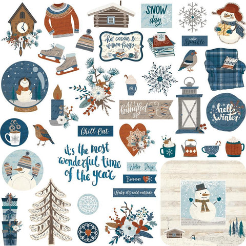 PhotoPlay - For The Love Of Winter Stickers 12inch X12inch Elements