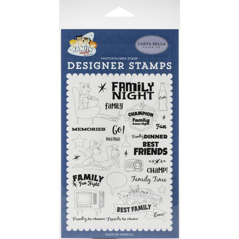 Carta Bella Stamps - Family Time, Family Night