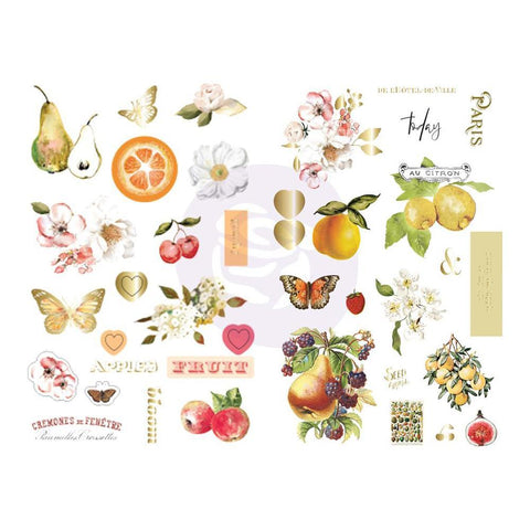 Prima - Fruit Paradise Collection - Chipboard Stickers 39 pieces