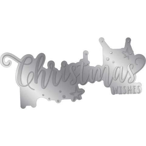 Crafter's Companion - Gemini Foilpress Stamp Die Expressions - Christmas Wishes
