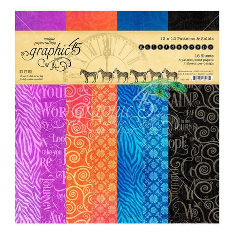 Graphic 45 - Kaleidoscope D/S Paper Pad 12x12in 16 Pk